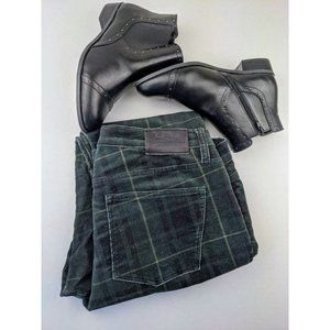 Ralph Lauren Green Tartan Corduroy Pants Straight